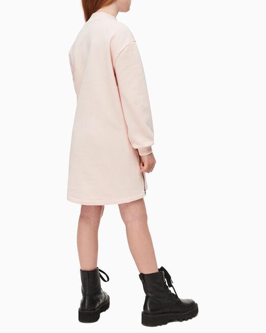 CALVIN KLEIN 여아용 집 헴 스웨트셔츠 드레스