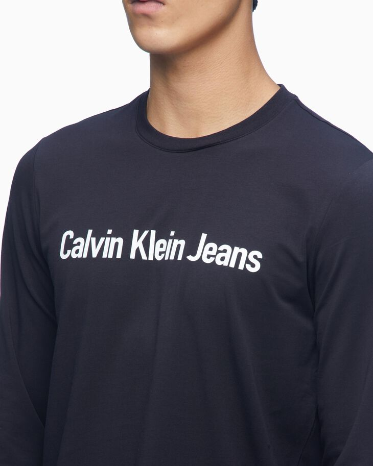 CALVIN KLEIN INSTITUTIONAL LOGO SLIM LONG SLEEVE TEE