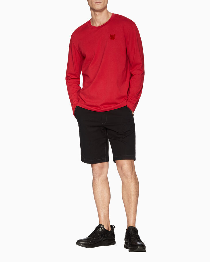 CALVIN KLEIN FLOCKED RAT LONG SLEEVE TEE