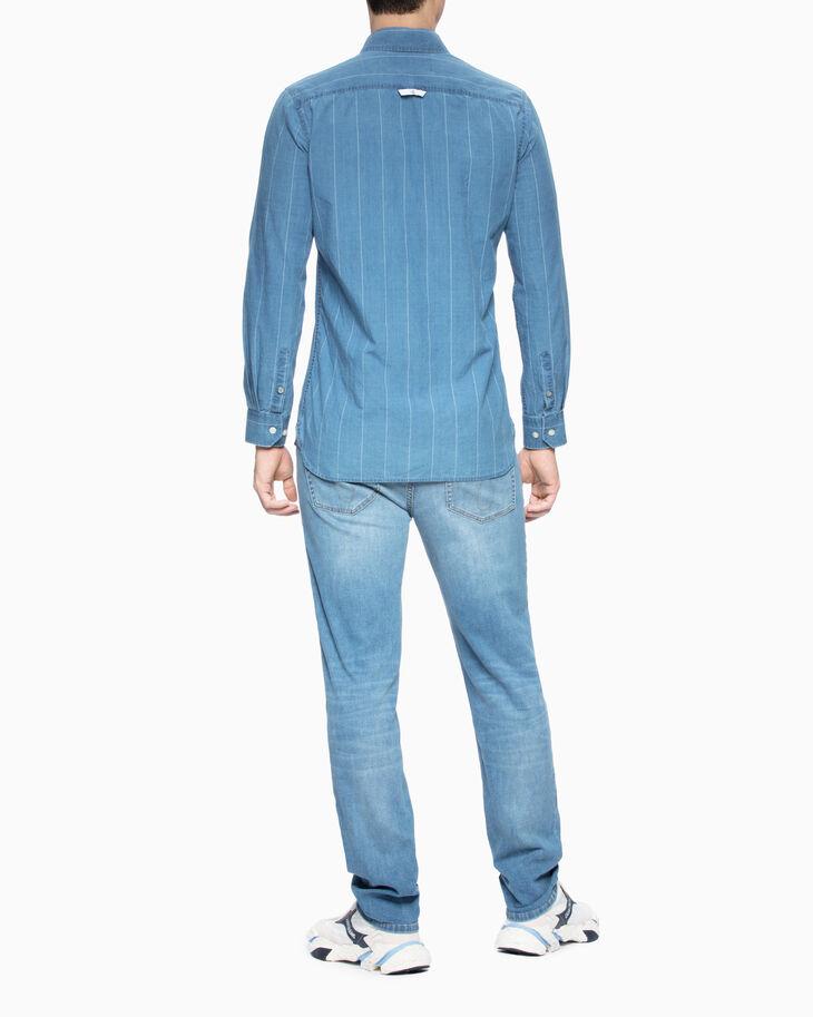 CALVIN KLEIN PINSTRIPE インディゴシャツ