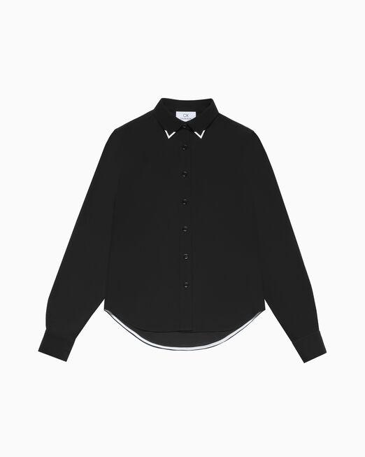 CALVIN KLEIN 메탈 칼라 팁 셔츠