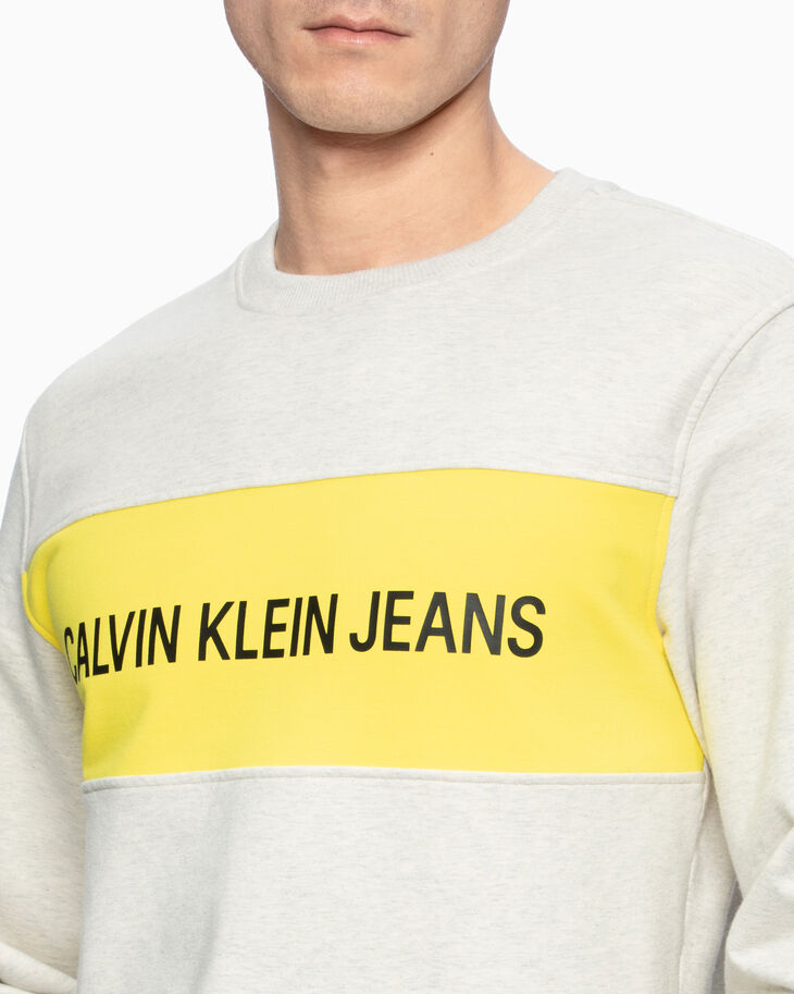 CALVIN KLEIN INSTITUTIONAL LOGO 拼接衛衣