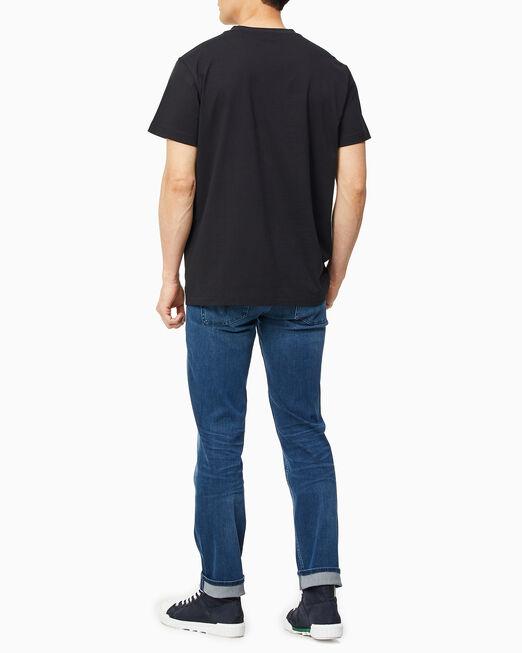 CALVIN KLEIN 남성 슬림핏 리플렉티브 로고 반팔 티셔츠