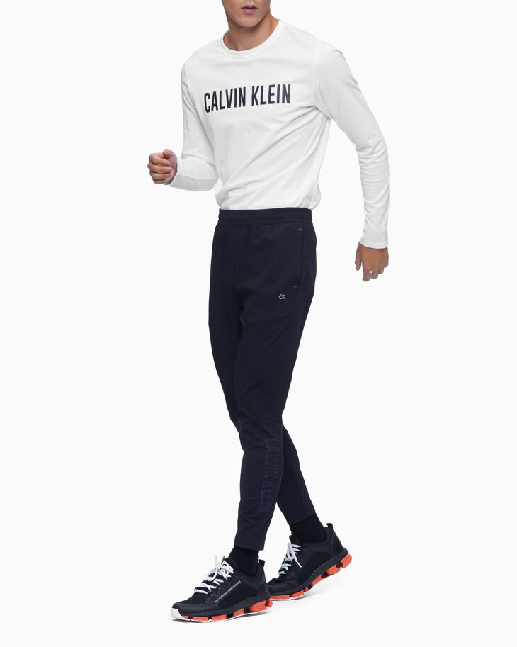 CALVIN KLEIN DIGITAL MOTION MIXED FABRIC SWEAT PANTS