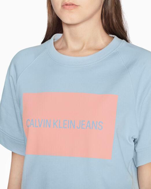 CALVIN KLEIN LOGO BOX 반소매 스웨트셔츠