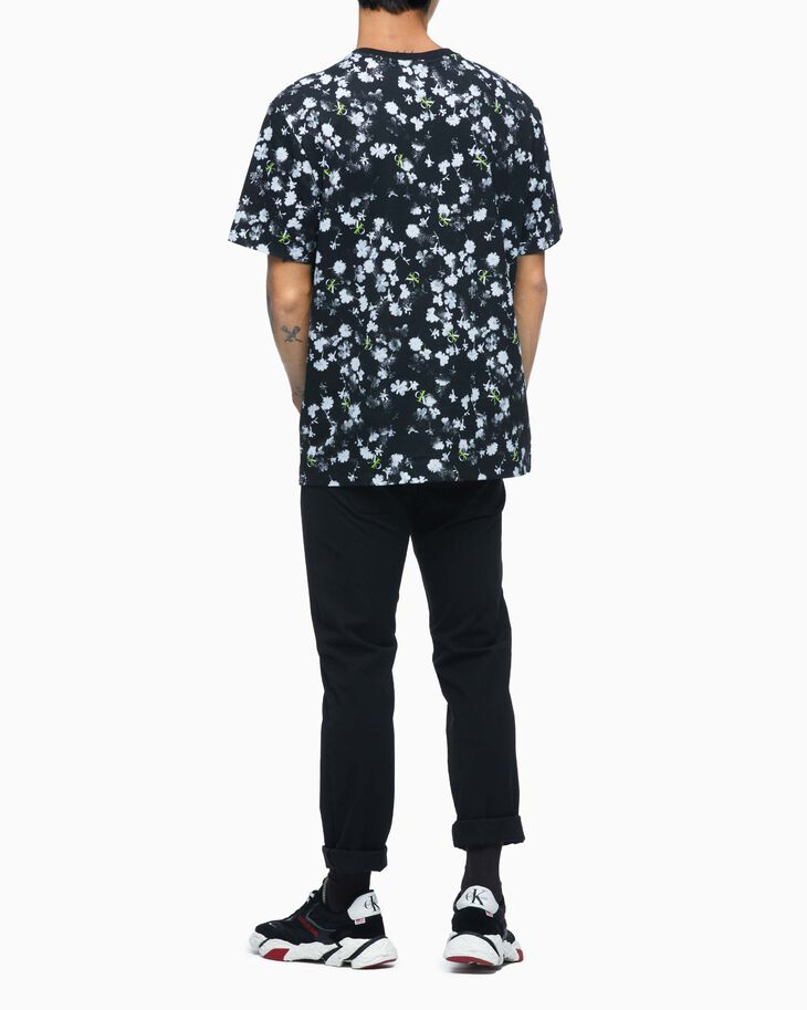 CALVIN KLEIN CK ONE FLORAL PRINT RELAXED FIT TEE