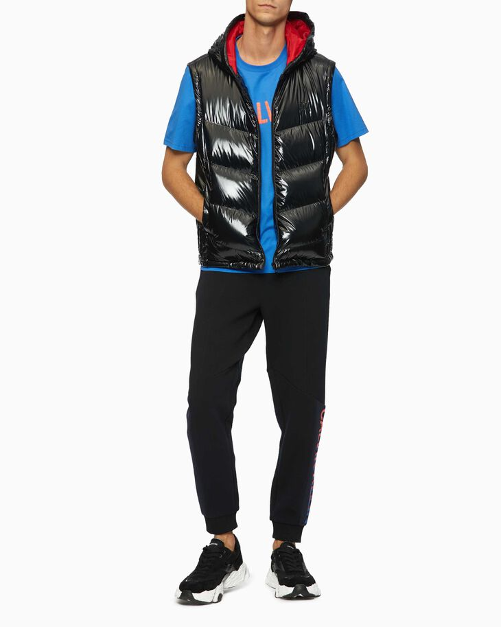 CALVIN KLEIN SHINY HOODED DOWN VEST