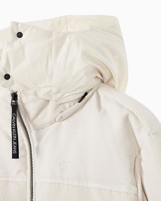 CALVIN KLEIN 여성 오버핏 코듀로이 다운 재킷