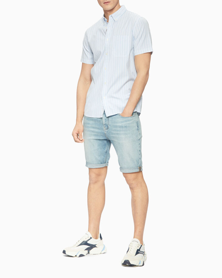CALVIN KLEIN 條紋短袖襯衫