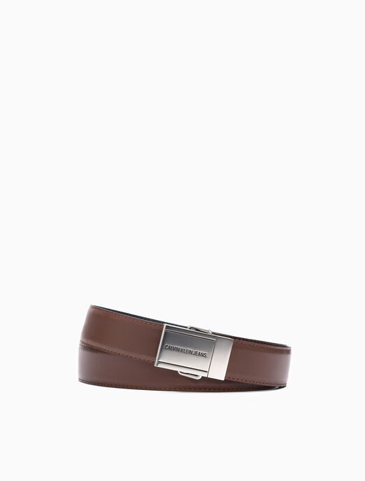 CALVIN KLEIN REVERSIBLE PLAQUE BELT 35MM