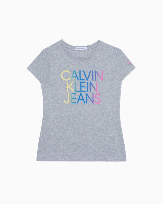 CALVIN KLEIN 여아용 GRADIENT HERO LOGO 티셔츠