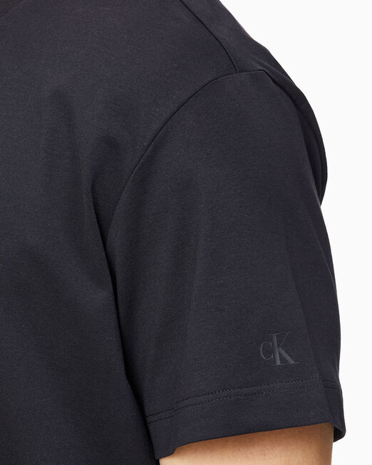 CALVIN KLEIN 남성 인스티튜셔널 젤 로고 프린트 반팔 티셔츠