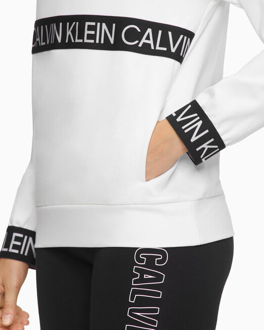 CALVIN KLEIN 여성 액티브 아이콘 엘라스틱 풀오버