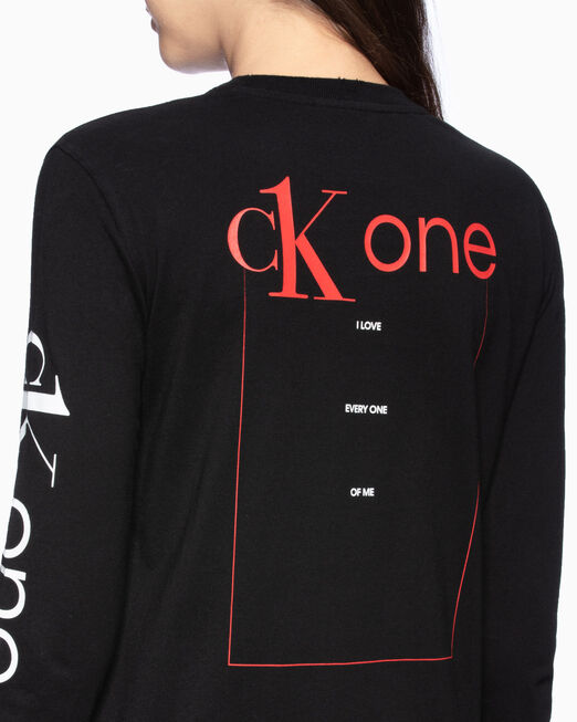 CALVIN KLEIN CK ONE ROSE LOGO STRAIGHT 티셔츠