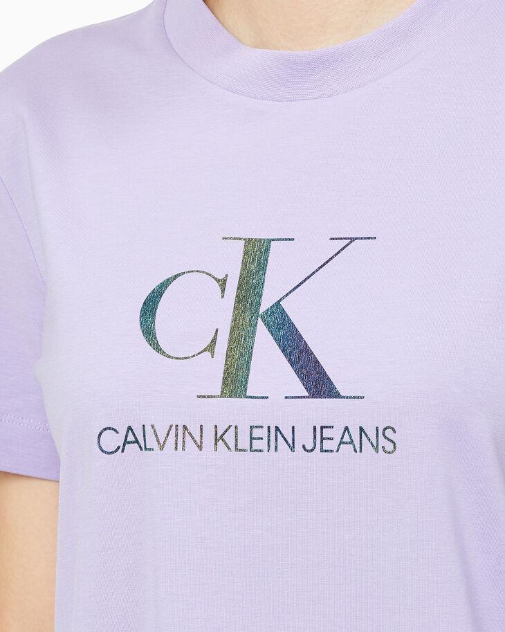 CALVIN KLEIN REFLECTION IRIDESCENT LOGO TEE