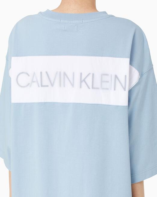 CALVIN KLEIN 여성 오버사이즈 튜닉 티 드레스