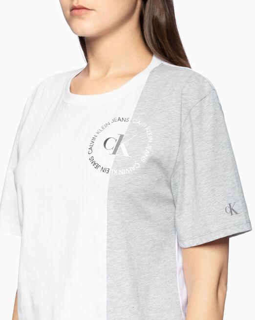 CALVIN KLEIN CROPPED COLOR BOCK 티셔츠