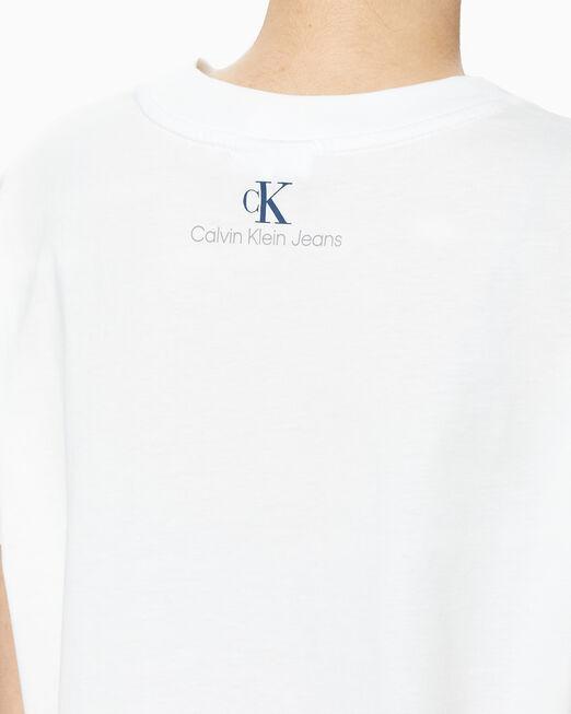 CALVIN KLEIN 여성 90's 크롭 크루넥 반팔 티셔츠