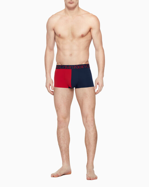 CALVIN KLEIN 남성 콤팩트 플렉스 리미티드 에디션 컬러 블로킹 로우 라이즈 트렁크