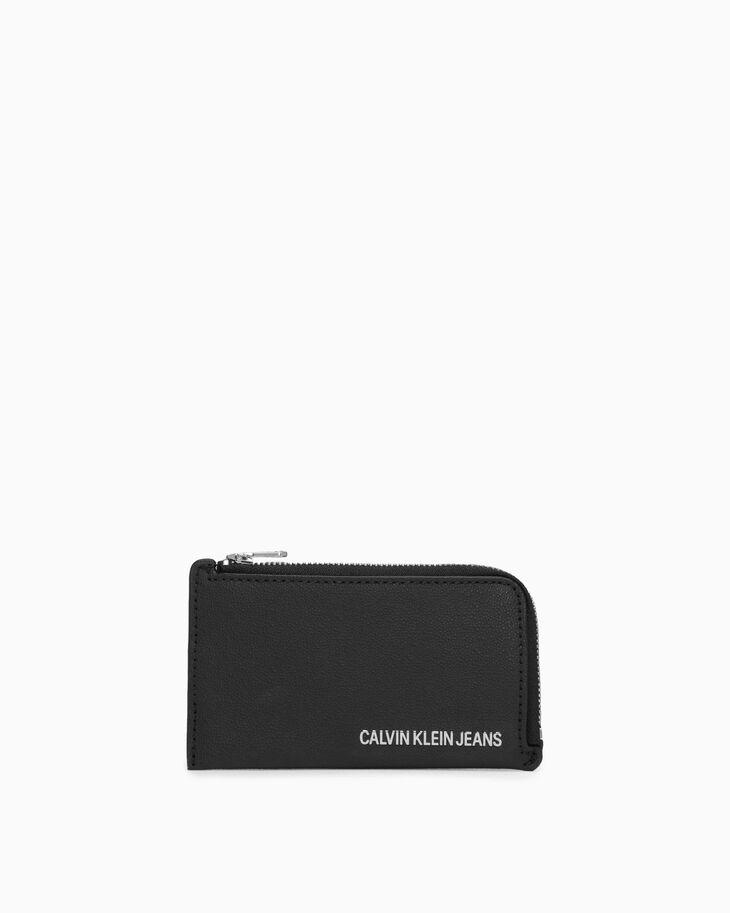 CALVIN KLEIN AIDEN GRAINED CARD CASE WITH COIN CASE