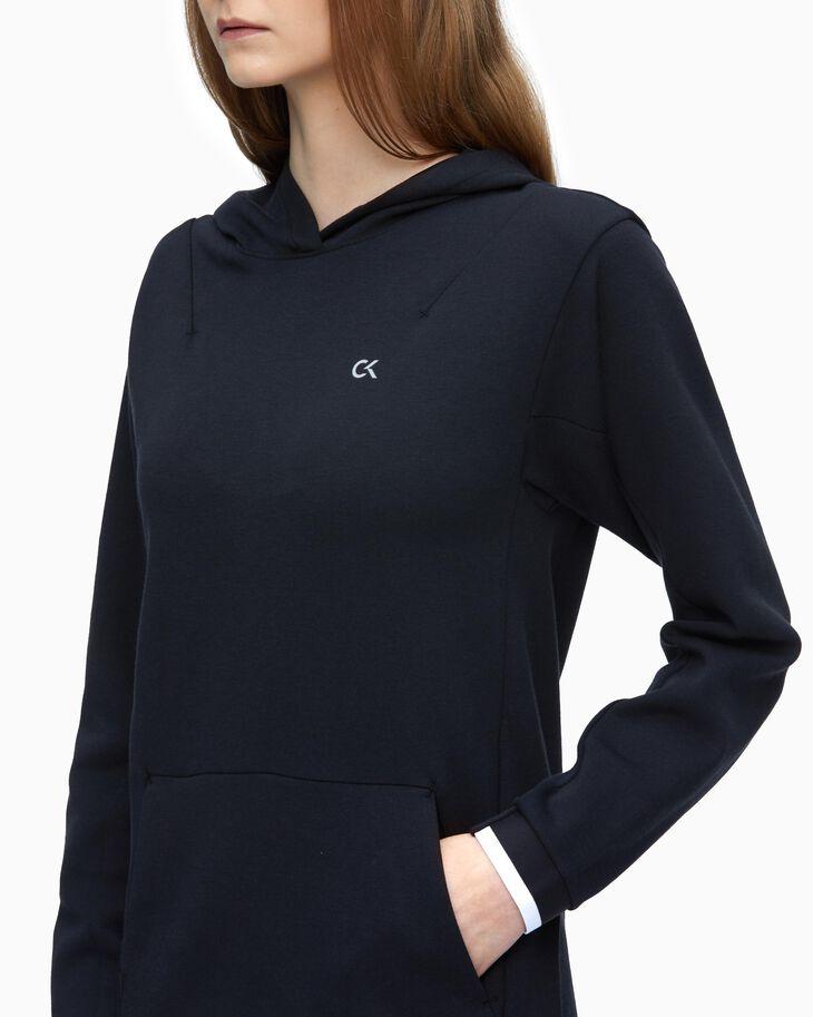 CALVIN KLEIN MODERN SWEAT HOODED DRESS