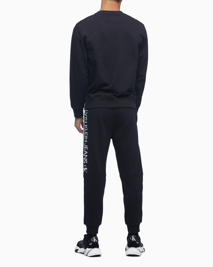 CALVIN KLEIN ORGANIC COTTON MIRROR LOGO SWEAT PANTS