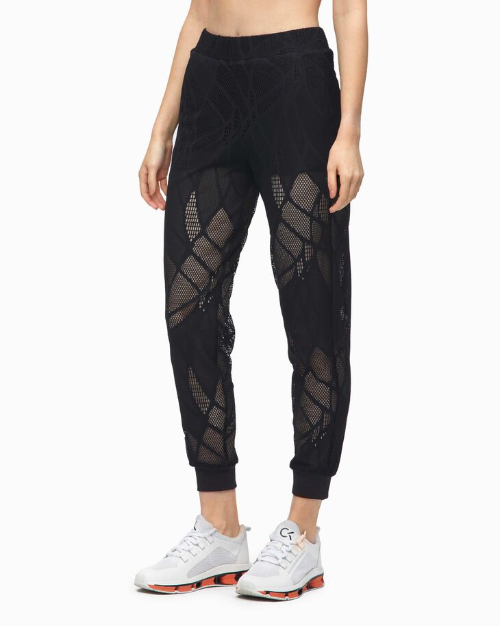 CALVIN KLEIN REFLECTION LACE CUFFED PANTS