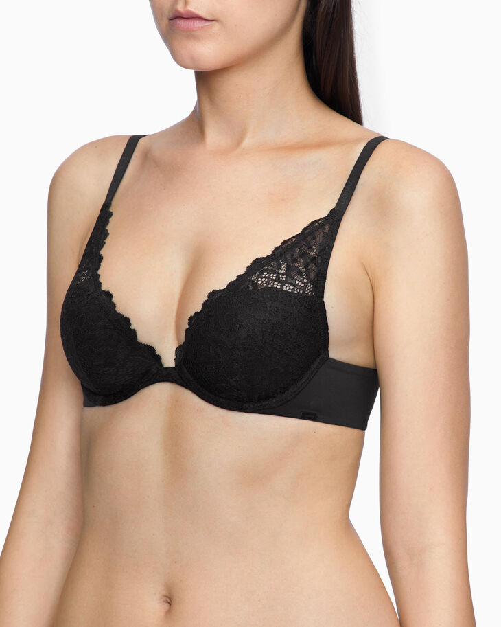 CALVIN KLEIN PERFECTLY FIT CHEETAH LIGHTLY LINED PLUNGE BRA