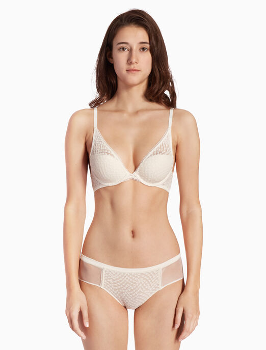 CALVIN KLEIN PERFECTLY FIT GEO LACE 힙스터