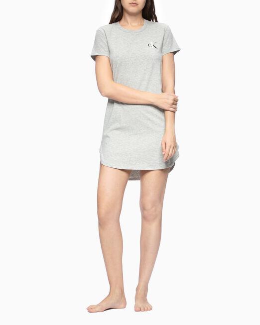 CALVIN KLEIN 여성 CK ONE 베이직 라운지 져지 숏 슬리브 나이트셔츠