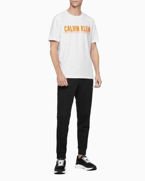 CALVIN KLEIN 남성 그라디언트 리니어 로고 티셔츠