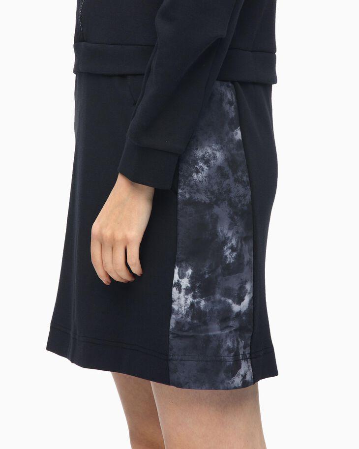 CALVIN KLEIN ORGANIC MOTION HOODED DRESS