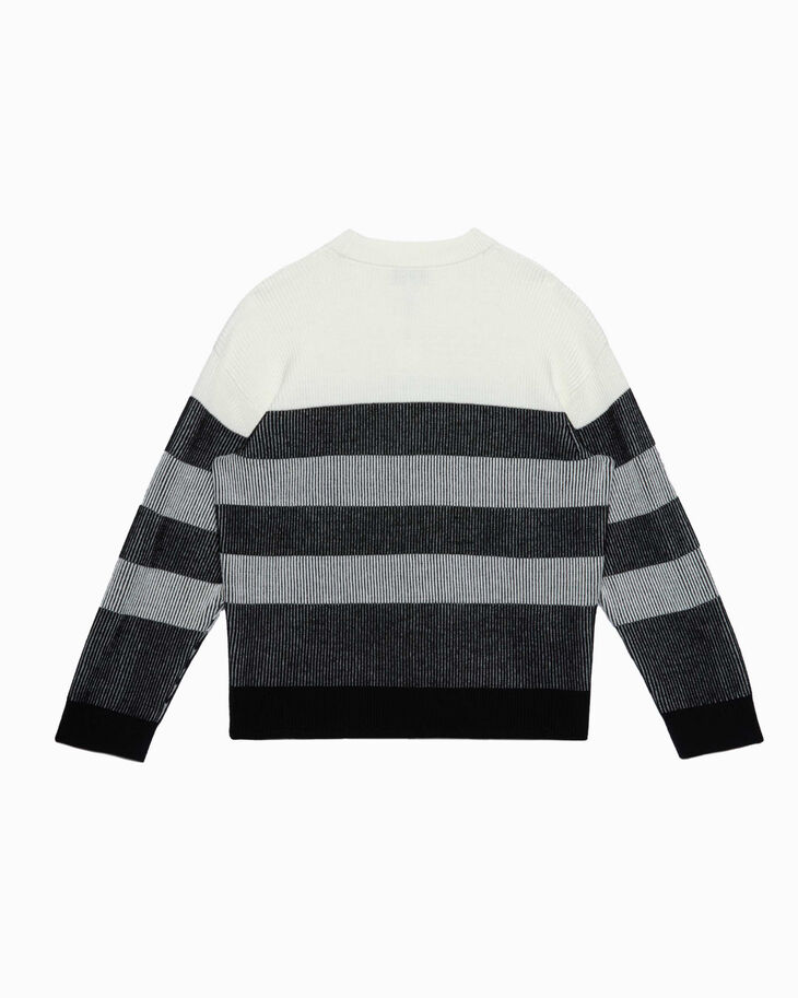 CALVIN KLEIN COLOR BLOCK RIB KNIT PULLOVER