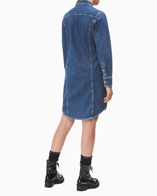 CALVIN KLEIN CK50 데님 셔츠 드레스