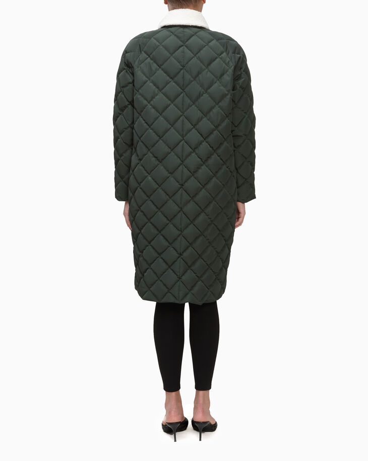 CALVIN KLEIN QUILTED PUFFER JACKET WITH TEDDY COLLAR