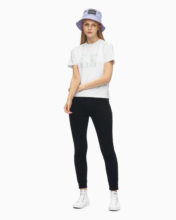 CALVIN KLEIN REFLECTION LOGO MODERN 直筒 T 恤
