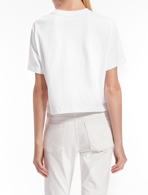 CALVIN KLEIN CROPPED LOGO TEE IN RELAXED FIT
