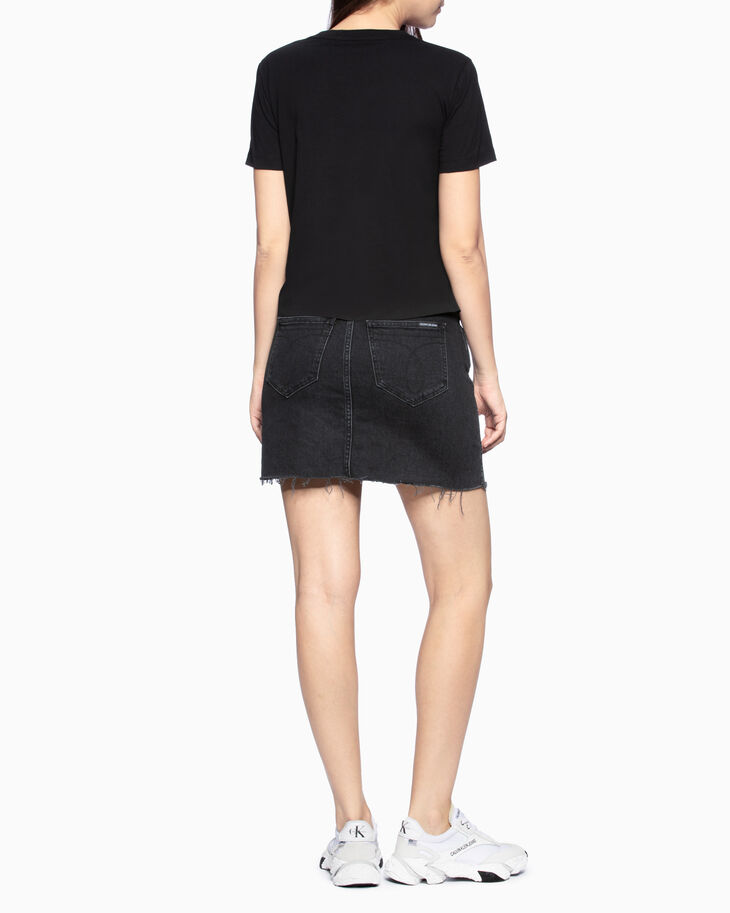 CALVIN KLEIN MID RISE DENIM MINI SKIRT
