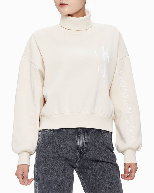 CALVIN KLEIN SUSTAINABLE OVERSIZED ROLL NECK SWEATSHIRT