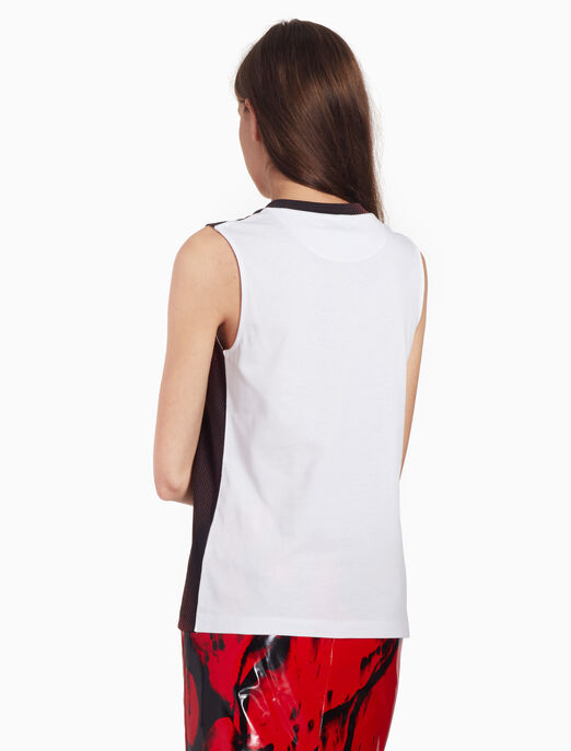 CALVIN KLEIN PIXELATED PRINT 탱크 탑