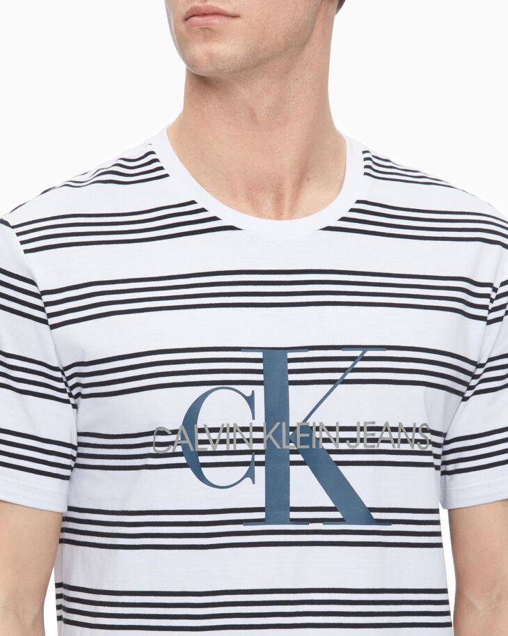 CALVIN KLEIN MONOGRAM STRIPED TEE