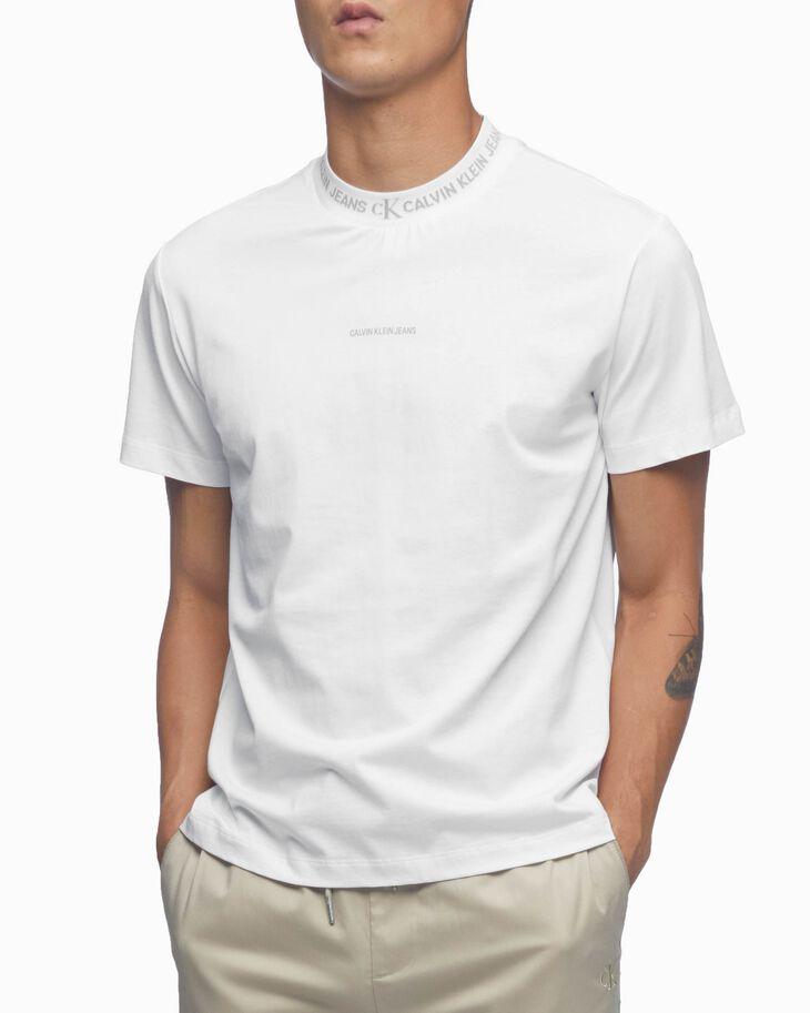 CALVIN KLEIN ORGANIC COTTON LOGO JACQUARD Tシャツ