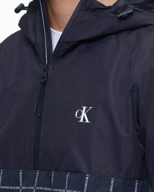 CALVIN KLEIN 남성 테크니컬 팝 오버 후드 재킷