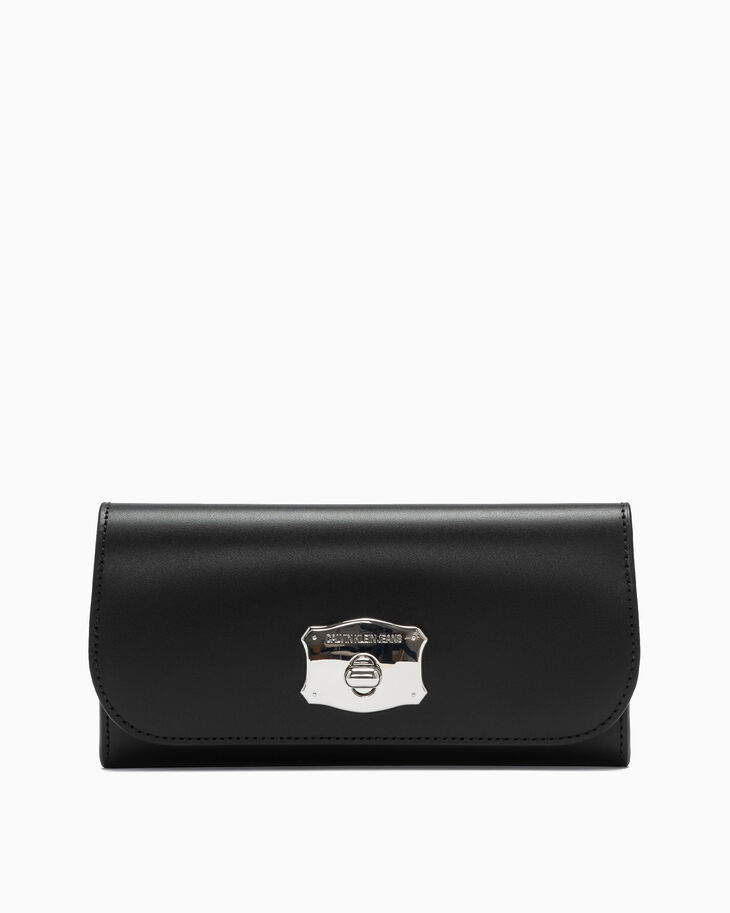 CALVIN KLEIN SCULPTED LOCK LONG FOLD WALLET