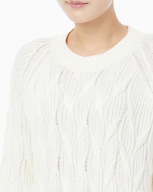 CALVIN KLEIN 여성 케이블 스웨터