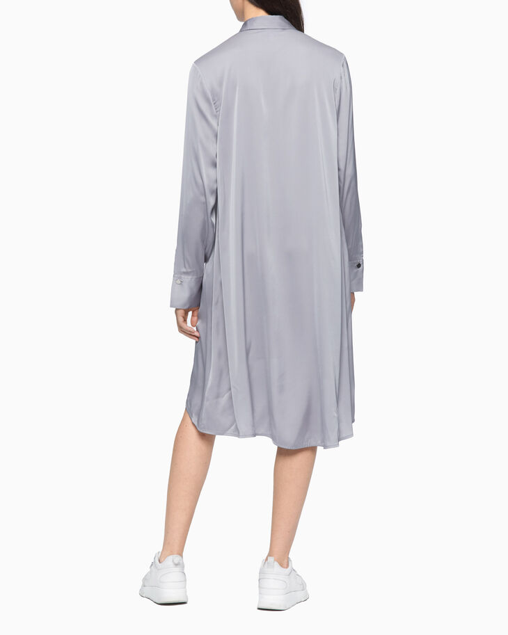 CALVIN KLEIN SHINY LONG SHIRT DRESS