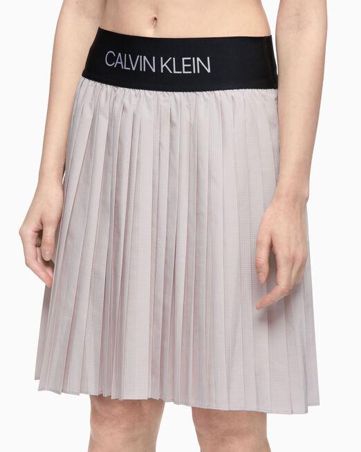 CALVIN KLEIN 여성 액티브 아이콘 플리츠 스커트