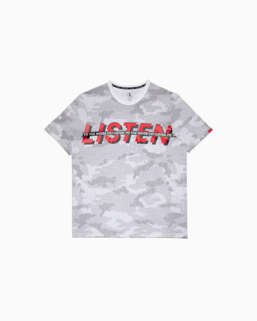 CALVIN KLEIN CK ONE LISTEN LOUNGE TEE