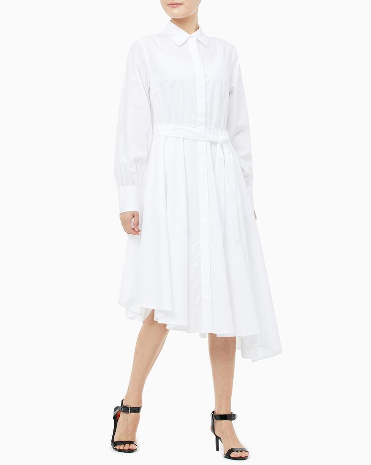 CALVIN KLEIN AD-STRIPE SHT DRESS