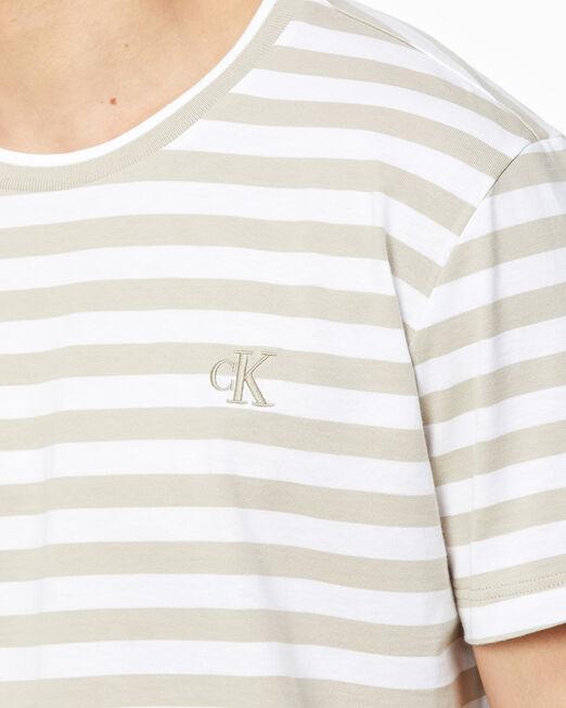 CALVIN KLEIN 남성 시즈널 투톤 티셔츠